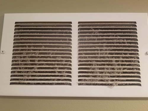 Vent cleaning before